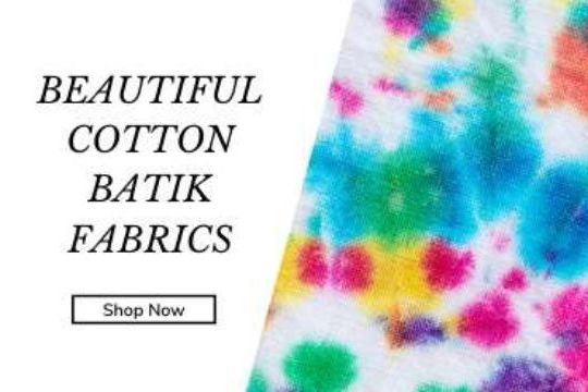 Batik and tie die fabrics to buy online UK 2020