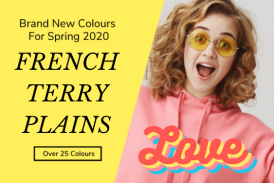 French Terry plain jersey fabrics collection Spring 2020