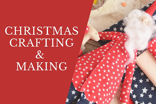 Christmas Craft stuff, fabrics, trims, ribbon