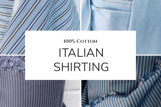 Italian cotton shirting