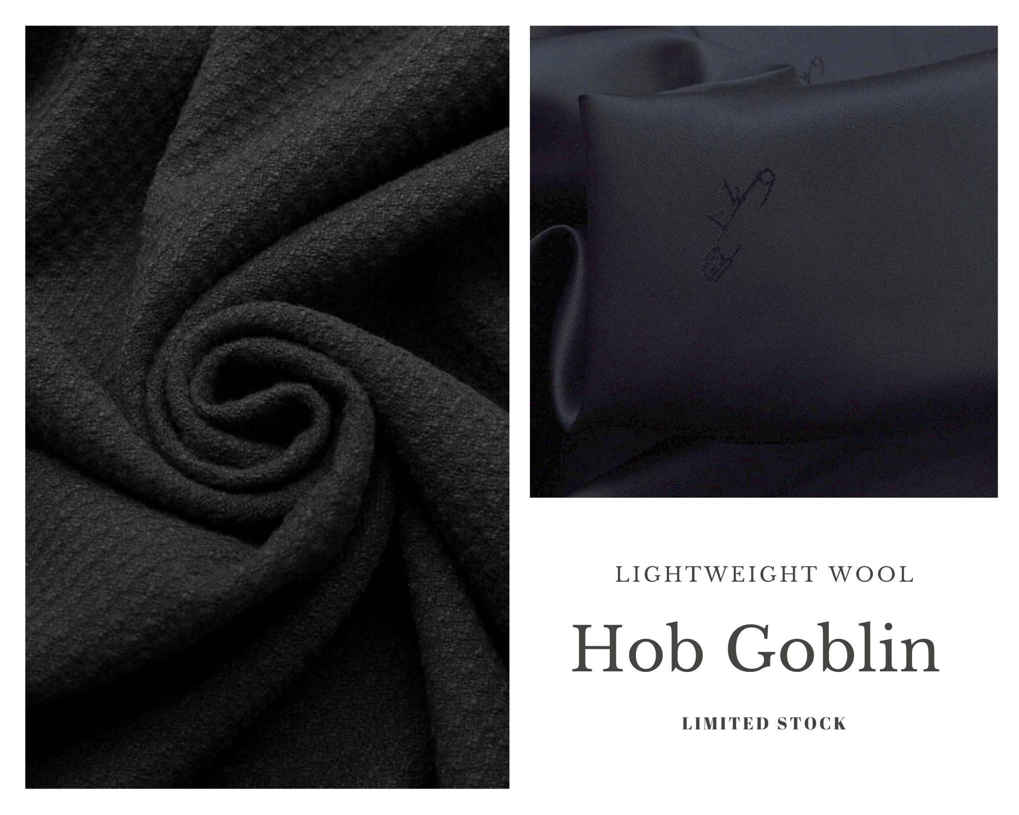 Coating Fabrics - Product Hob Goblin - Black textured coating