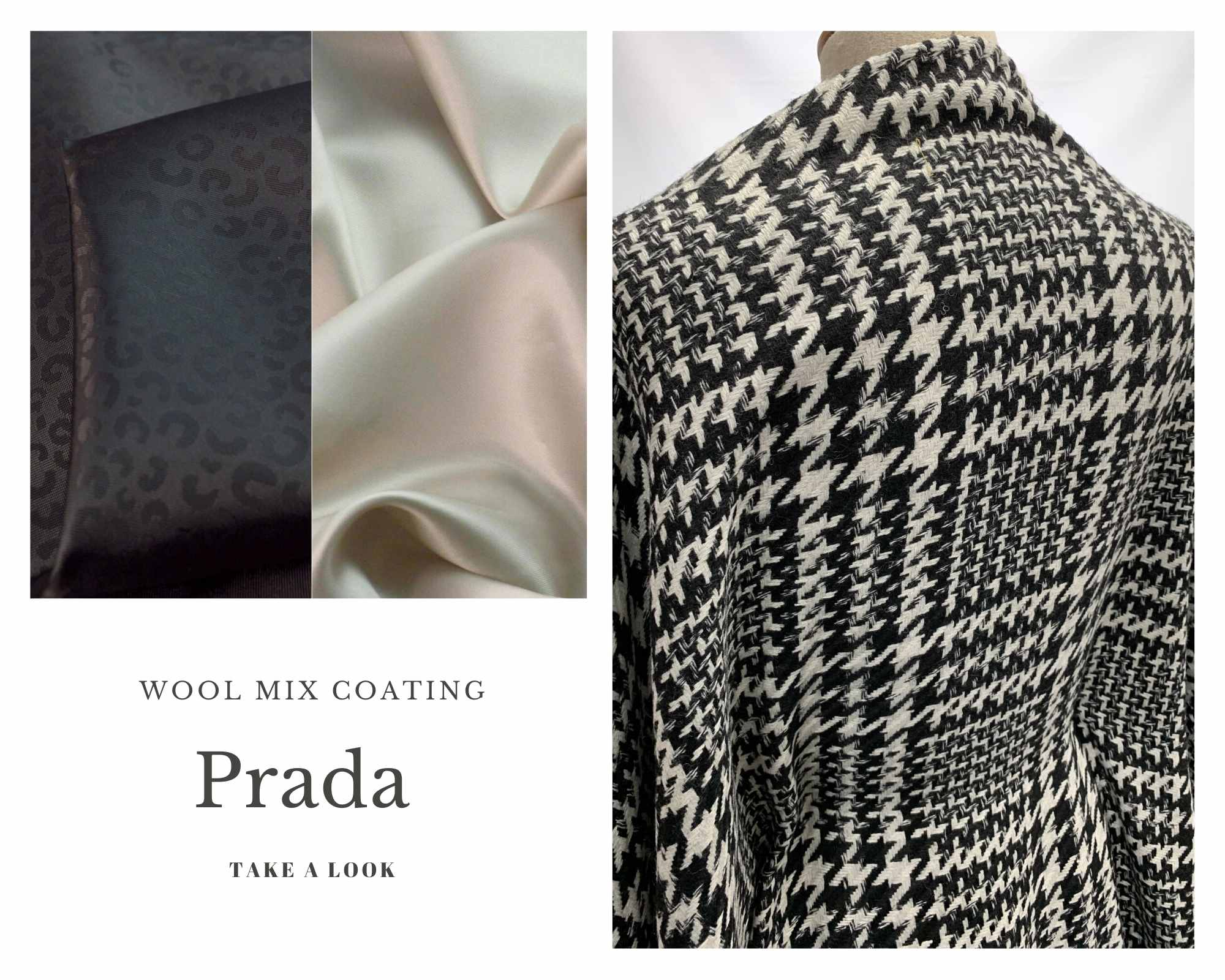 Coating Fabrics - Product Prada - black and white check (1)