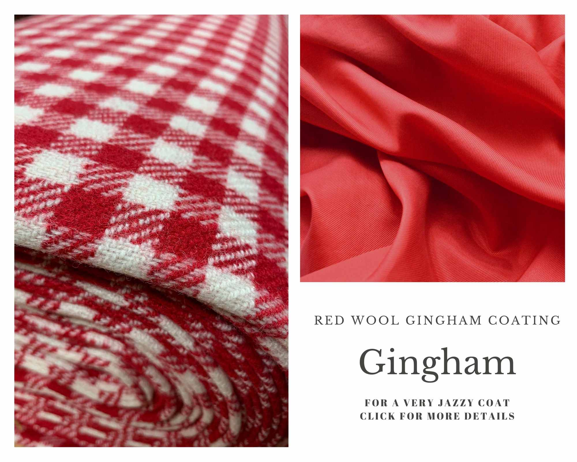 Coating Fabrics - Product red Gingham - red and white check