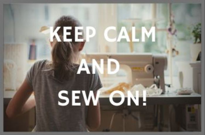 news banner keep calm and Sew On