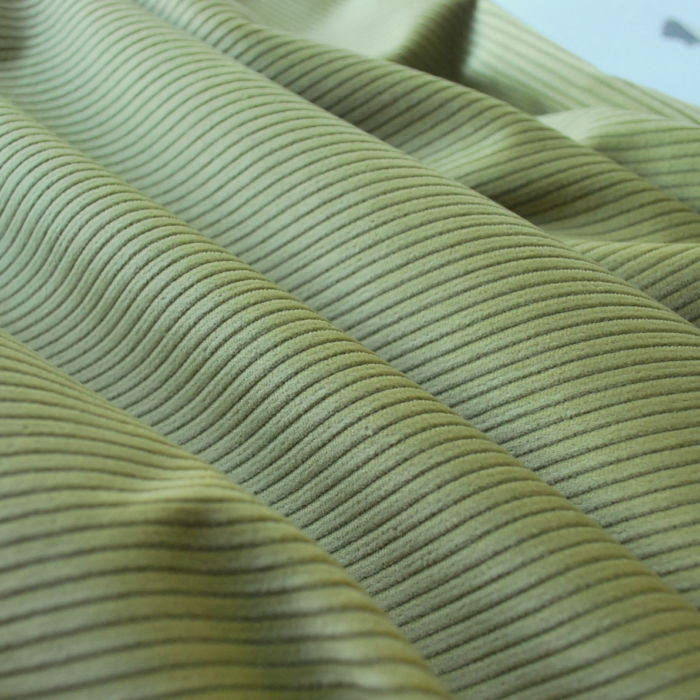 Corduroy fabric cotton apple green
