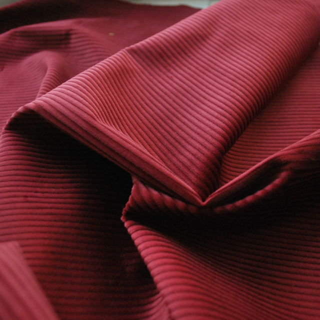Corduroy fabric_cotton_burgundy