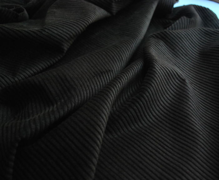 Corduroy fabric cotton dark brown
