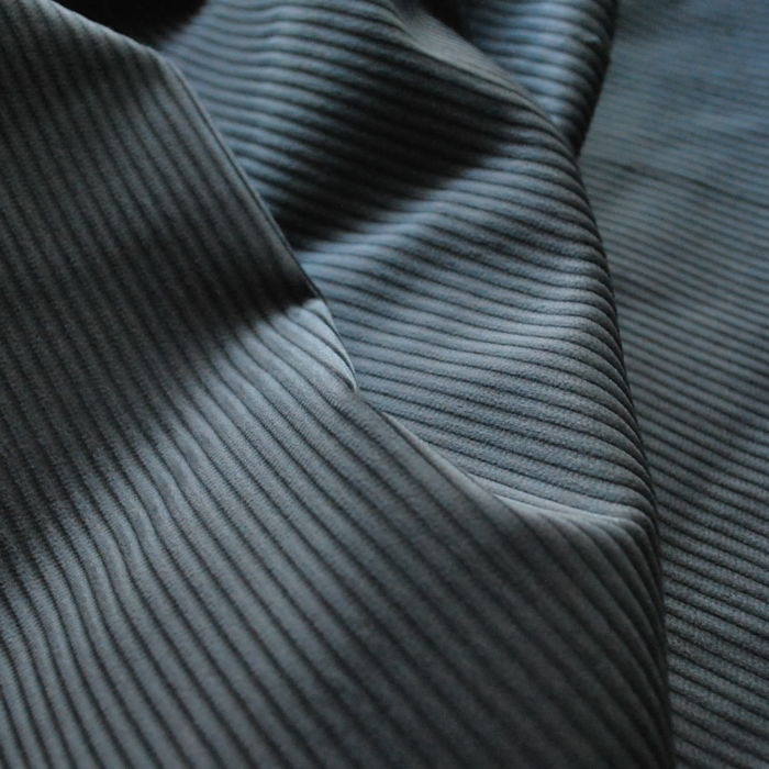 Corduroy fabric cotton grey cu