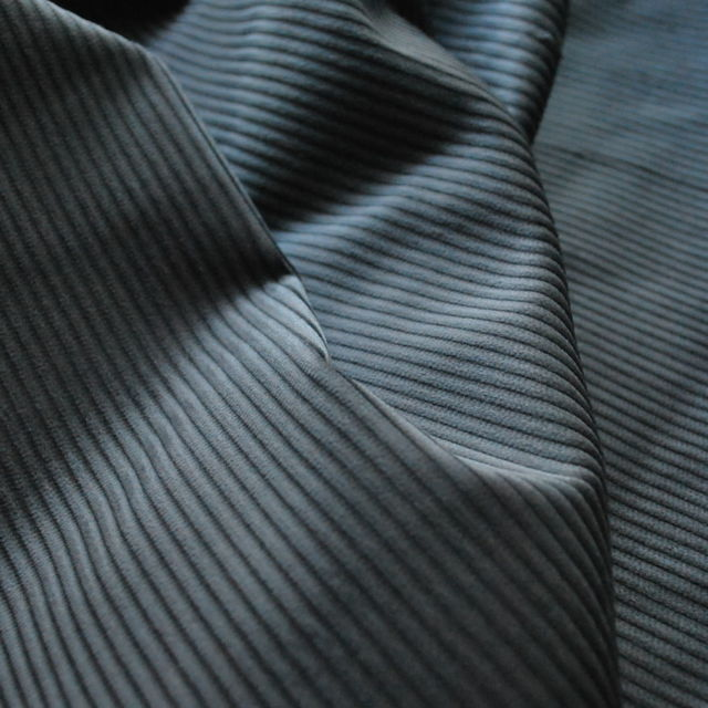Corduroy fabric_cotton_grey_cu
