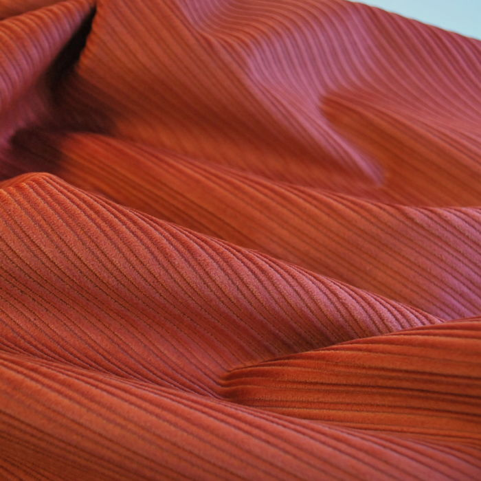 Corduroy fabric cotton pale rust cu