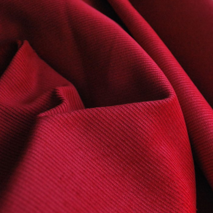 Corduroy fabric cotton red cu