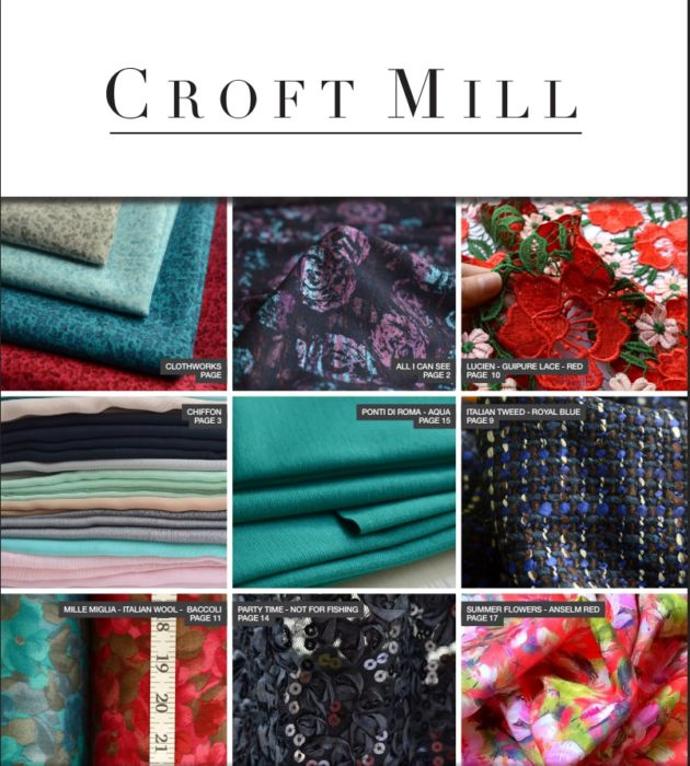 Issue 31 Croft Mill Fabric catalogue Front page