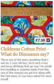 Dinosaur Cotton Fabric