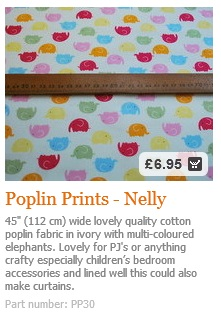 Elephant Cotton Fabric