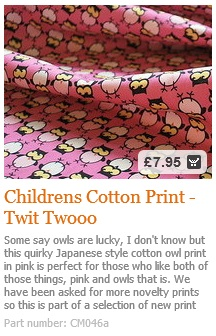 Owl Cotton Print