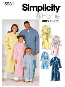 Simplicity Dressing Gown 5931 Pattern