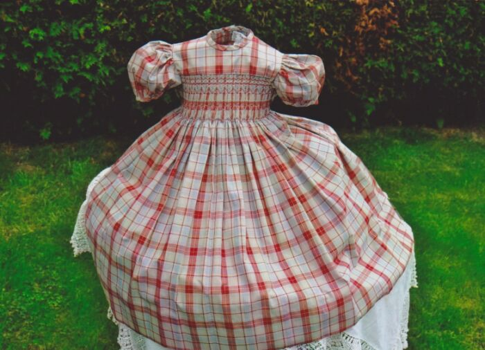 Smocked Frocks check cotton dress