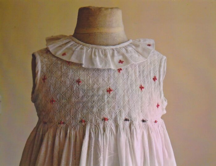Smocked Frocks White cotton dress