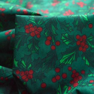 Photography of Set Piece - Christmas Poly/Cotton - Holly Berry 2m