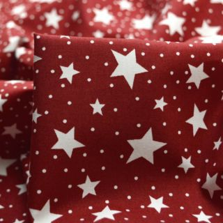 Photography of Sewing Room - Stars - Dark Red