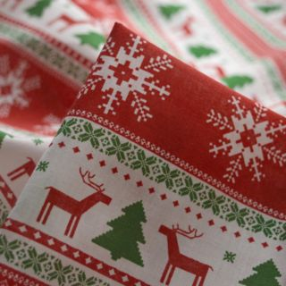 Photography of Christmas Poly/Cotton - Argyll Stripe