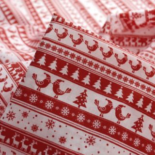 Photography of Christmas Poly/Cotton - Festive Stripe