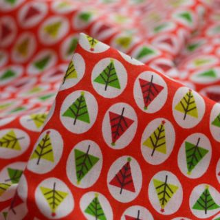 Photography of Christmas Poly/Cotton - Tree - Dot - Red