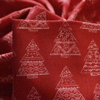 Photography of John Louden Canvas - Christmas Tree Red
