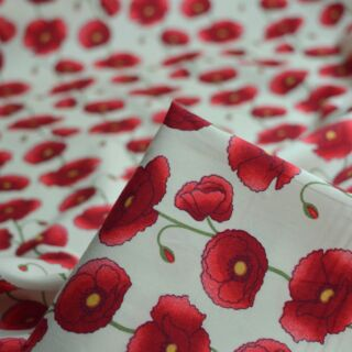 Photography of Poplin Prints - Remember Me - Poppy - Cream