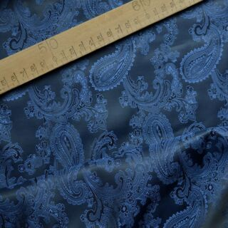 Photography of Paisley Changeant Linings B - Navy/Royal