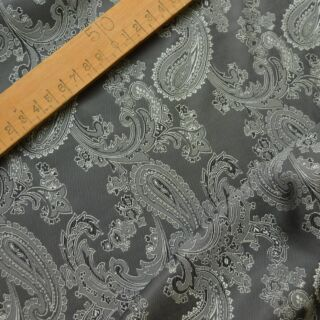 Photography of Paisley Changeant Linings B - Silver/Grey