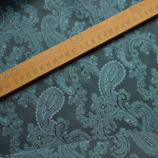 Photography of Paisley Changeant Linings B - Teal/Aqua