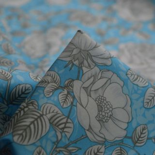 Photography of Poplin Prints - Aqua Rose