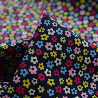 Photography of Poplin Prints - Button Navy/Pink