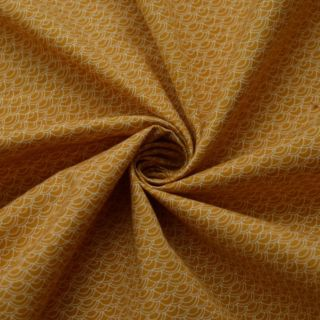 Photography of SET PIECE 2M Craft Cotton - Japanese Waves - Mustard