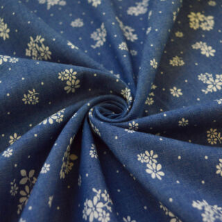 Photography of Denim - Heavenly - Floral Duo - Dark Blue