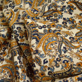Photography of Vintage Paisley - Mustard & Blue