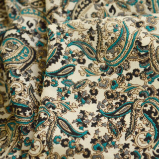 Photography of Vintage Paisley - Teal & Black