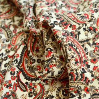 Photography of Vintage Paisley - Red & Black