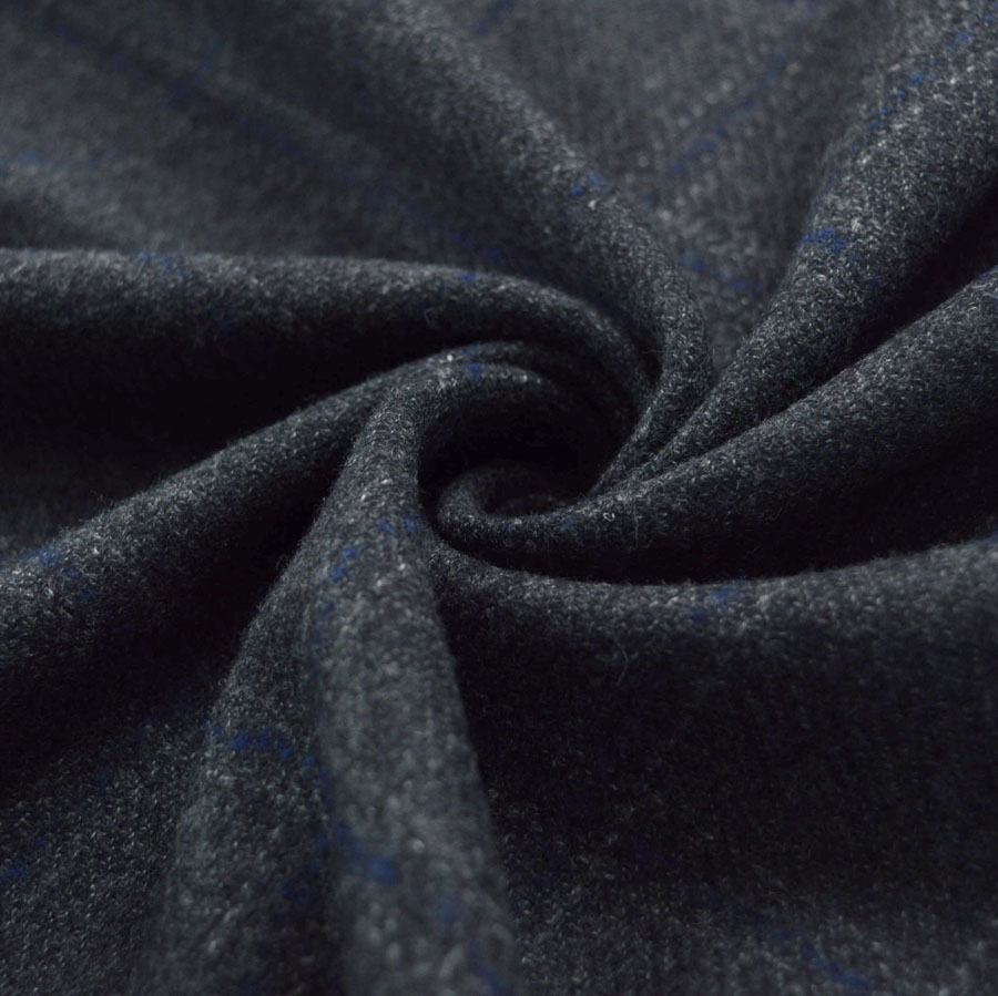 150cm wide Lightweight Wool Flannel Blue /& Black Check Superior Quality
