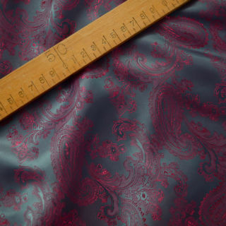 Photography of Paisley Changeant Linings B - Cerise/Teal