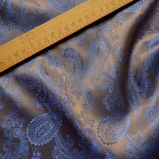 Photography of Paisley Changeant Linings B - Cobalt/Copper