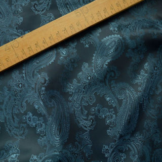 Photography of Paisley Changeant Linings B - Petrol/Grey