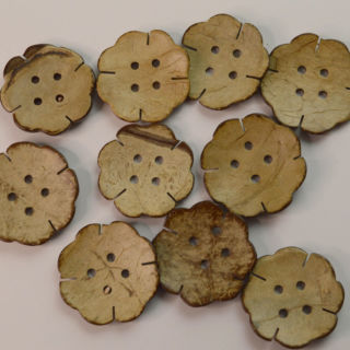 Photography of 10 Large 4 hole Coconut Buttons
