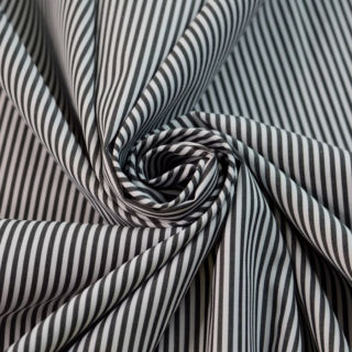 Photography of Designer Shirting - Black & White Stripe