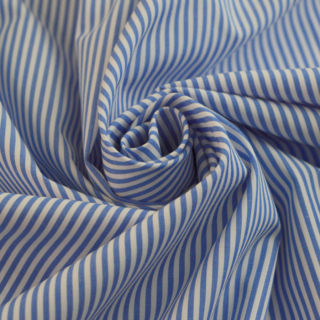 Photography of Designer Shirting - Blue & White Stripe