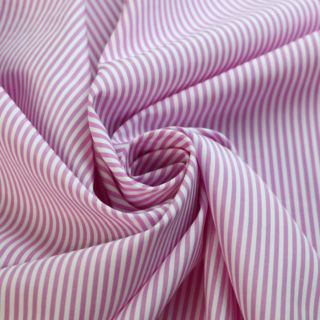 Photography of Designer Shirting - Pink & White Stripe