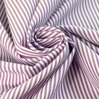 Photography of Designer Shirting - Purple & White Stripe