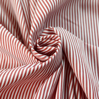 Photography of Designer Shirting - Red & White Stripe
