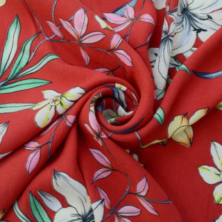 Photography of Viscose - Red Crepe
